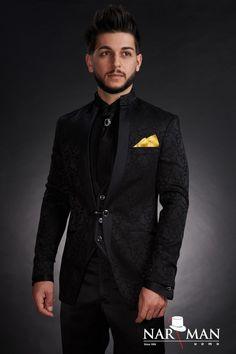 1 new message True Gentleman, Mandarin Collar, Wedding Suits, Tuxedo, Mens Suits, Bride Groom, Party Wear, Suit Jacket, Menswear