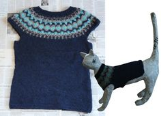 ワンコ・ニャンコと飼い主様お揃いのペアルックです。北欧柄をヨークに編み込んだベストです。アイスランド製のロピー毛糸(ウール100%)を... ハンドメイド、手作り、手仕事品の通販・販売・購入ならCreema。