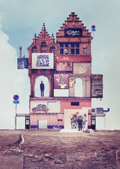 "My town, my walls. - By Kidz Behance project : https://www.behance.net/gallery/22265059/My-town-my-walls Description : ""Here is my town, here is my walls. Welcome to my museum."" Hope you will like..."