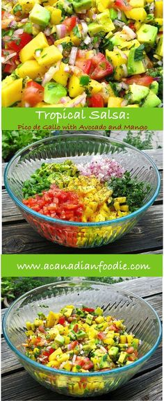 Tropical mango Salsa: Pico de Gallo all Dressed Up for a Party Salsa Tomate, Clean Eating, Healthy Eating, Good Food, Yummy Food, Cooking Recipes, Healthy Recipes, Juice Recipes, Mexican Food Recipes