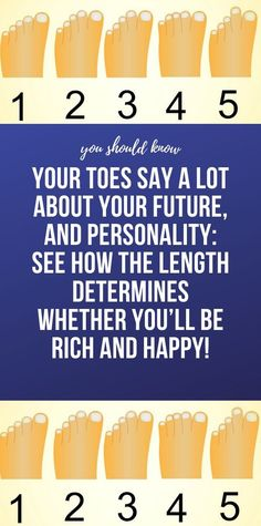 YOUR TOES SAY A LOT ABOUT YOUR FUTURE, AND PERSONALITY: SEE HOW THE LENGTH DETERMINES WHETHER YOU'LL BE RICH AND HAPPY! Healthy Detox, Healthy Tips, How To Stay Healthy, Healthy Facts, Natural Health Tips, Health And Beauty Tips, Ginger Wraps, Teeth Straightening, Good Carbs
