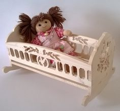 Doll cradle My Doll doll cradle wooden by MacchiavelliArtLegno