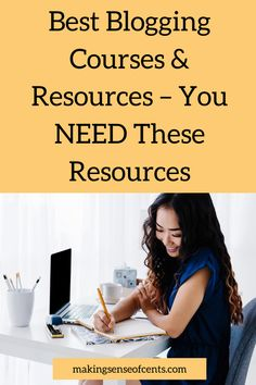 Are you looking to grow your blog and make more money blogging? Then you need to check out the best blogging courses and resources to grow your traffic and income. Money Change, Change My Life, Starting Your Own Business, Make More Money, Make Sense, Saving Money, Good Things, Learning, Tips
