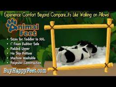 f77892bb9bce Happy Feet - Cow - Animal Slippers