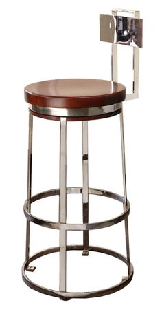 Halston Swivel/Fixed Bar Height Stool (Stainless Steel) - Dering Hall (=)