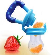 Baby Dummy Nibbles Nutrition Pacifier Fresh Fruit Food Feeder Beads Ring DE