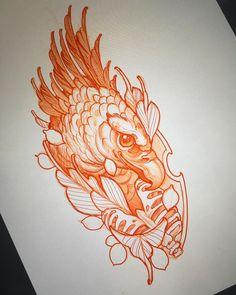 Neo Traditional Art, Traditional Tattoo Old School, Traditional Tattoos, American Traditional, 1 Tattoo, Tattoo Drawings, Tattoo Flash, Leg Tattoos, Animal Sketches