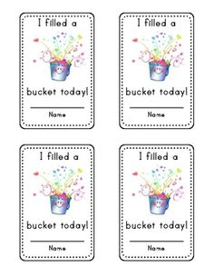Are You a Bucket Filler? Activity Packet {Printable} | Buckets ...