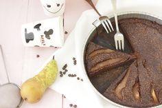 Gâteau fin chocolat poire - sans beurre, sans gluten, sans lactose