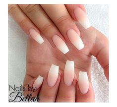ee coffin nails ombre french acrylic french tip nails Love Nails, How To Do Nails, Pretty Nails, My Nails, Faded Nails, Matte Nails, Prom Nails, Wedding Nails, French Tip Nails