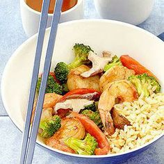 Shrimp and Scallop Vegetable Stir-Fry