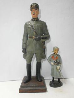 großer alter Hausser Elastolin Soldat General Guisan zu 14.5cm | eBay