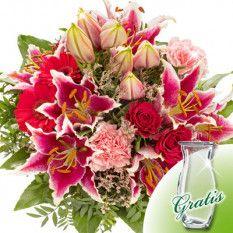 Präsentation rosa Blumensträuße...!!..!!