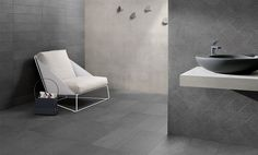 SILVER STONE is a #stone effect #porcelain #stoneware inspired by a #uniform, #compact #Italian stone, #Bedonia, whose #original #colour features and #texture it maintains.