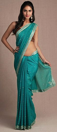 Ritu Kumar Teal saree