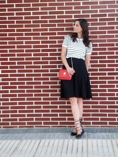 Black Midi Skirt and Lace Up Ballerinas Daily Look, Front Row, What To Wear, Midi Skirt, High Waisted Skirt, Lace Up, My Style, Ideas, Womens Fashion