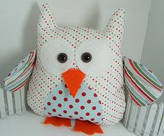 Stampin' Up!  Fabric Owl  Shirley Pumpkin  Candy Cane Christmas