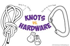 Knots vs. Hardware- This is an awesome page! Full of info and a very interesting comparison....