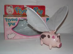Vintage Flying Pig toy, Early 1990's - Rare