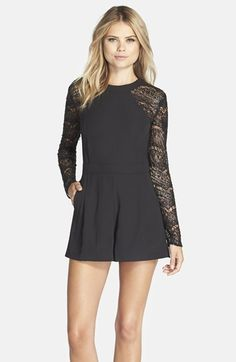 Adelyn+Rae+Embellished+Lace+Romper+available+at+#Nordstrom