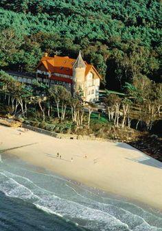 Neptun Castle - hotel in Leba, Poland.  Dream destination for a romantic trip!!