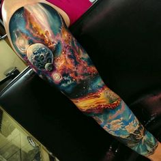 Universe tattoo by Romantattoos