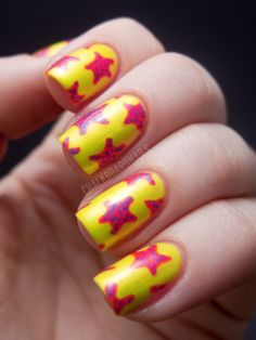 Chalkboard Nails: China Glaze Summer Neons Nail Art: Starfish Manicure (+ Tutorial)