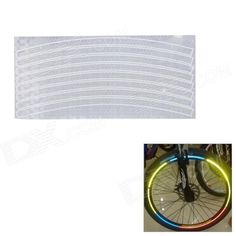Bike Bicycle Reflective Wheel Rim Stripe Sticker - Silver Price: $3.48