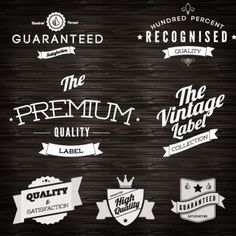 Free Logo Vintage Labels Design Vector - EPS - Free Graphics download