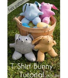 Free pattern: T-shirt bunny softie