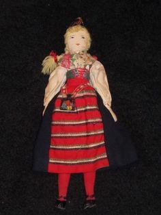 "Vintage 14"" Edith Flack Ackley Doll, Original Well Made Swedish Costume"