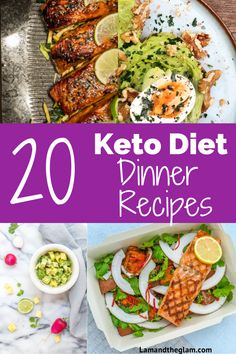 Start your Keto Diet: 20 Easy Keto Dinner Recipes - Lam and TheGlam Easy Dinner Recipes, Delicious Recipes, Easy Meals, Ketogenic Recipes, Keto Recipes, Healthy Recipes, Clean Eating, Healthy Eating, Keto Dinner