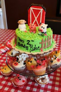 farm cake- so cute for kids!