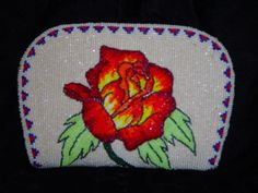 Native American Beaded Roses | Beaded Coin Purse 2J