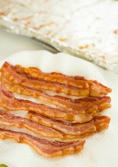 How to make oven-fried bacon by @Michelle (Brown Eyed Baker)