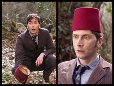 The combination of his expression and the fez on the ground make me nervous!