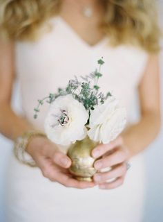sweet floral arrangement // photo by Jen Huang, styling by Borrowed Blu // view more: http://ruffledblog.com/borrowed-blu-bridal-accessories