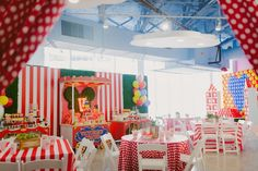 Partyscape from a Mickey Mouse Circus Birthday Party via Kara's Party Ideas KarasPartyIdeas.com (11)