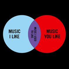 Hipster music choice Venn.