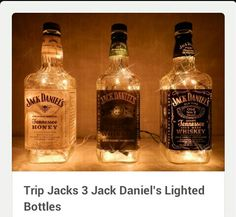 Use old bottles to make lights for bar or other place in the home.