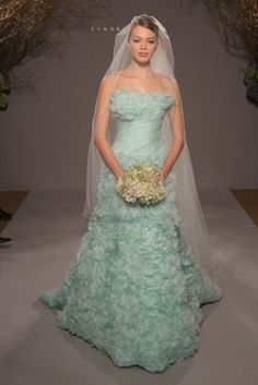 in love with this wedding dress. Romona Keveza Tiffany Blue