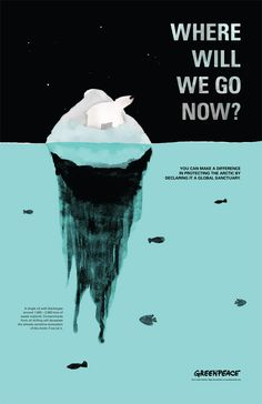 kampagne umwelt Save the Arctic by Voranouth Supadulya, via Behance Save Mother Earth, Save Our Earth, Save The Planet, Global Warming Poster, Global Warming Climate Change, Environmental Posters, Environmental Issues, Environmental Protection Poster, Ville Durable