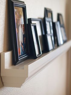 Love the crown molding on these $10 shelves. This site has lots of DIY projects & free plans... Have fun!