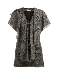 8e624e6539 Paisley-print ruffled silk georgette mini dress | Saint Laurent |  MATCHESFASHION.COM UK