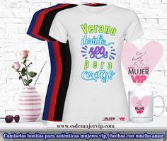 Camisetas con encanto Sports, Tops, Fashion, T Shirts, Women, Hs Sports, Moda, Fashion Styles, Sport