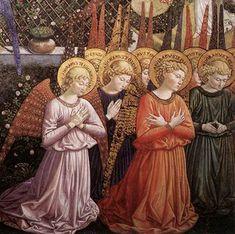 Anges en adoration, Benozzo GOZZOLI, 1459-60