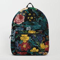 81b0c5c1ea Night Garden XXV Backpack by Burcu Korkmazyurek