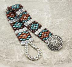 SUPERDUO CZECHMATE TILE Bracelet-Pastel by CinfulBeadCreations