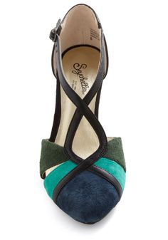 Don't Make Me Brag Wedge in Dawn. Theres no need to flaunt these Seychelles colorblock wedges with words - their jewel tones and stunning silhouette speak for themselves! #multi #modcloth