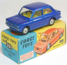 Diecast model Corgi Hillman Imp Metallic Blue